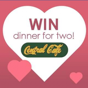 Riverside Plaza – Win One of Five Romantic Dinners at Central Cafe on Valentine's Night (prize valued at $100)