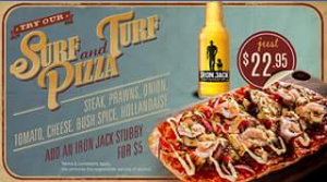 Roadhouse Grill – Win Two Surf & Turf Pizzas