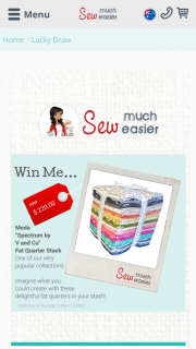 Sew Much Easier – Win a Moda Spectrum By V and Co Fat Quarter Stack (prize valued at $220)