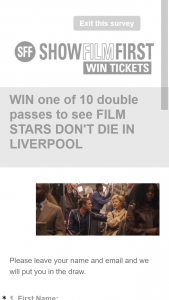 Show Film First – Win One of 10 Double Passes Available to Film Stars Don't Die In Liverpool