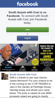 South Aussie With Cosi – Win 2 X Tickets to See Jazz Genius James Morrison (prize valued at $600)