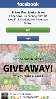St Ives Fruit Market – Win $100 Store Voucher