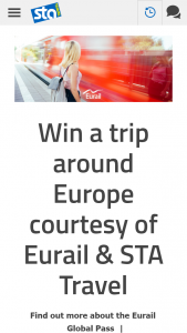 STA Travel – Win Flights to Either Paris Or Amsterdam and Eurorail Passes (prize valued at $8,000)