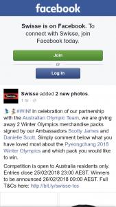 Swisse – Win 1/2 Winter Olympics Merchandise Packs