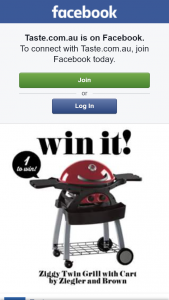 Taste – Win a Ziggy Twin Grill (prize valued at $668)