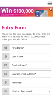 """Telstra – Woolworths Petrol Stations buy any eligible Telstra product Enter online with a chance to appear at a prize draw and – Win 100k"""" (promotion) 1. (prize valued at $100,000)"""