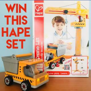 Toyworld Canberra – Win a Hape Crane Lift & Hape Dumper Truck Must Collect