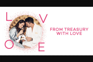 Treasury Brisbane – purchase a From Treasury with Love Valentine's Day Hotel Package & – Win a $1000 Tiffany & Co Gift Voucher (prize valued at $1,000)