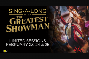Warner Music – Win Tickets to The Greatest Showman Sing a Long