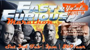 Yatala 3 drive-in theatre – Win 1 of 5 Car Passes to Our Fast & Furious Marathon Tomorrow Night at 7pm&#127950&#127950&#127950 Winners Will Be Announced Friday 2 February at 3pm