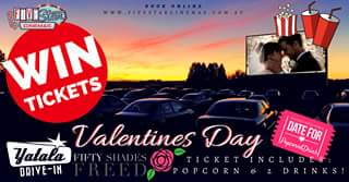 Yatala 3 drive-in theatre – Win One of 3 Valentines Day Packages