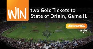 ActewAGL – Win 2 gold tickets to the State of Orgin Game at ANZ Stadium Sydney plus a $500 Helloworld gift voucher