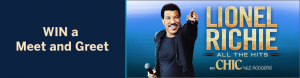 American Express – Win 1 of 5 prize packages  of 2 A Reserve tickets to Lionel Richie and more (trip included)