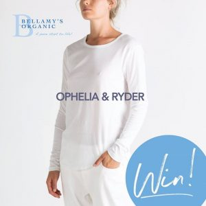 Bellamy's Organic – Win $400 to spend on Ophelia & Ryder's premium Australian milled organic clothing