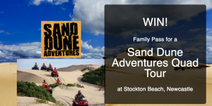 Bound Round – Sand Dune Adventures – Win a Quad Tour voucher for 2 adults and 2 children valued at $350