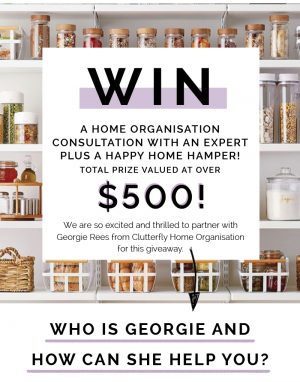 SWIISH – March Makeover – Win a home organisation consultation with an expert plus a Happy Home Hamper (total prize valued at $500)
