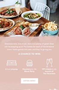 The Urban List – Win a Foodie Weekend for you and your crew