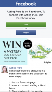 Acting Pure – Win a Mystery Eco & Aroma Gift Pack