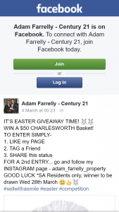 Adam Farrelly Century 21 – Win a $50 Charlesworth Basket