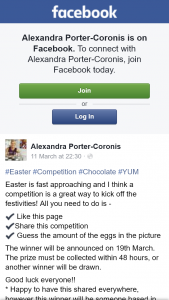 Alexandra Porter-Coronis – Win Easter Chocolates Pick Up Brisbane