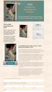Allen & Unwin – Win a Copy of The Opal Dragonfly and a Beautiful Handmade Sterling Silver Dragonfly Brooch
