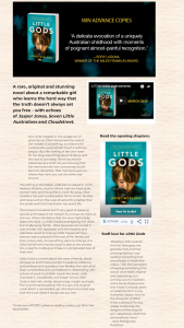 Allen & Unwin – Win One of Forty Advance Copies of Little Gods