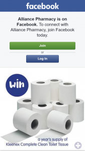 Alliance Pharmacy – Win Year's Supply of Kleenex Toilet Tissue