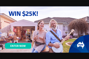 APIA – Win $25000 to Upgrade Your Life (prize valued at $25,000)