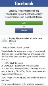 Aspley hypermarket – Win $50 Kmart Gift Card