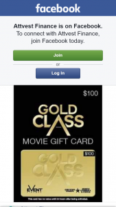 Attvest Finance – Win $100 Gold Class Gift Card (prize valued at $100)