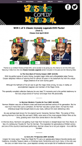 Aussie Comedy Kingdom – Win this DVD Pack Featuring 3 Titles From The New Classic Comedy Legends Series