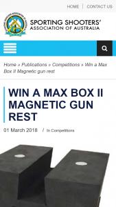 Australian Hunter – Win a Max Box Ii Magnetic Gun Rest (prize valued at $79)