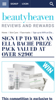 Beauty Heaven – Win an Ella Bache Prize Pack Valued at Over $290 (prize valued at $290)