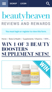 Beauty Heaven – Win 1 of 3 Beauty Boosters Supplement Sets