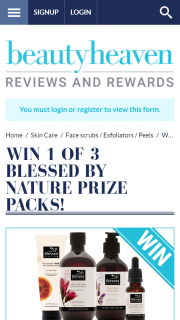 Beauty Heaven – Win 1 of 3 Blessed By Nature Prize Packs