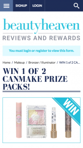 Beauty Heaven – Win 1 of 2 Canmake Prize Packs