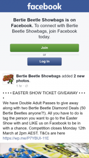 Bertie Beetle showbags – Win Double Passes to Royal Easter Show & Two Bertie Beetle Diamond Deals
