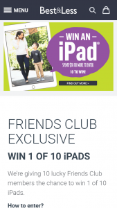 Best & Less – Win 1 of 10 Ipads