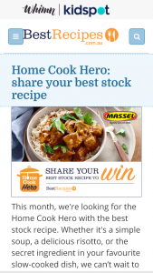 Best Recipes – Win $1500 Or $1000 (prize valued at $2,500)