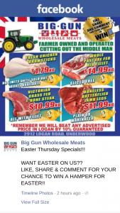 Big Gun Wholesale Meats Underwood – Win a Hamper for Easter