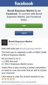 Bondi Espresso Martini – Win a Free Case of Bondi Espresso Martini