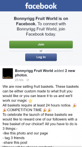 Bonnyrigg Fruit World – Win a Free Fruit Basket