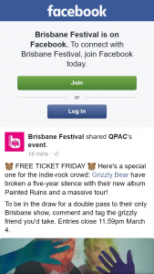 Brisbane Festival – Win a Double Pass to Grizzly Bear