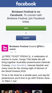 Brisbane Festival – Win a Double Pass to Songs That Made Me