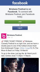 Brisbane Festival – Win Tickets to See Gillian Cosgriff Brisbane Comedy Festival