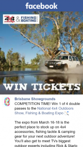 Brisbane Showgrounds – Win 1 of 4 Double Passes to The National 4×4 Outdoors Show
