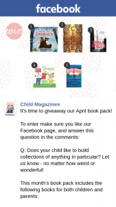 Child Magazine – Win The April Book Pack