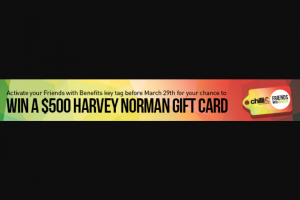 Chilli 90.1FM – Win a $500 Harvey Norman Gift Card (prize valued at $500)