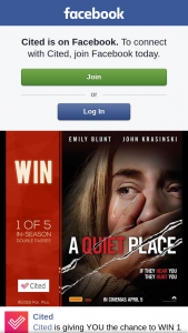 Cited – Win 1 of 5 Double Passes to See a Quiet Place Thanks to Paramount Pictures