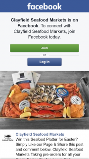 Clayfield Seafood Markets FB – Win this Seafood Platter for Easter